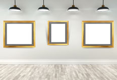 3d gallery interior Stock Images