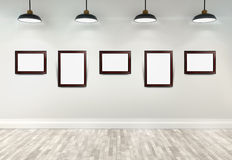 3d gallery interior Royalty Free Stock Images