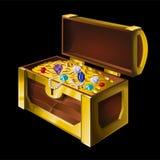Gold box vector illustration