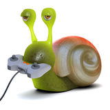 3d Gamer snail Stock Photos