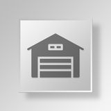 3D Garage Button Icon Concept Royalty Free Stock Images