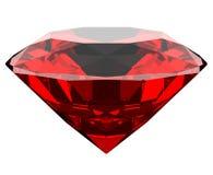3d garnet diament odizolowywający Obraz Stock