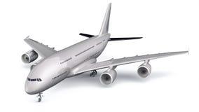 3D Geïsoleerd Commercieel Vliegtuig stock illustratie