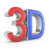 3D geïsoleerd embleem Royalty-vrije Stock Afbeeldingen