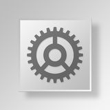 3D Gear Button Icon Concept Royalty Free Stock Images