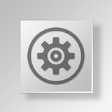 3D Gear Button Icon Concept Stock Images