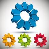 3d gear icon vector set. Stock Photos