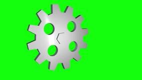 3D gear rotating loop stock footage