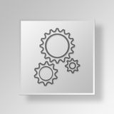 3D Gears Button Icon Concept Royalty Free Stock Photo