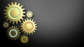 3D gears concept design Royalty Free Stock Photo