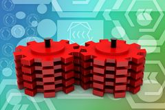3d gears illustration Royalty Free Stock Photography