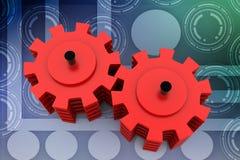 3d gears illustration Stock Image