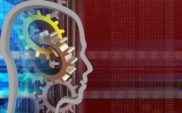 3d gears Royalty Free Stock Images