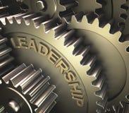 3d gears ledarskapwhite Royaltyfria Bilder