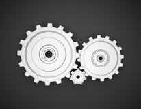 3d gears metall Royaltyfri Illustrationer
