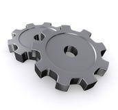 3d gears metall Royaltyfri Foto