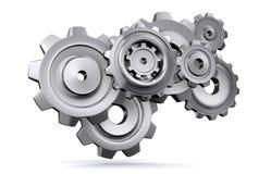 3d gears metall Stock Illustrationer