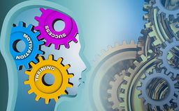 3d gears system Royalty Free Stock Photo