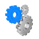 3d gears on a white background Stock Photos