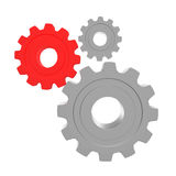 3d gears on a white background Stock Images
