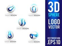 3D Gebied Logo Design Vector Stock Afbeeldingen