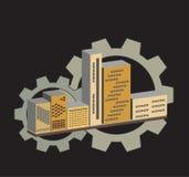 3D gebouwen Stock Foto's