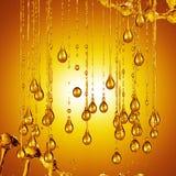 3D gedetailleerde illustratie van een daling van water gouden kleur Royalty-vrije Stock Foto