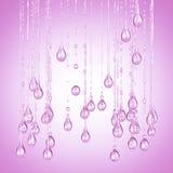 3D gedetailleerde illustratie van een daling van water roze kleur Stock Foto's