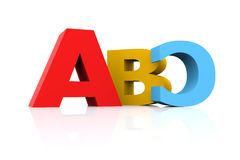 3d Gedraaid ABC vector illustratie