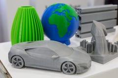3d gedrukte voorwerpen bij Technologiehub in Milaan, Italië Stock Afbeelding