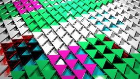 3D geef abstracte achtergrond terug Driehoeksvorm royalty-vrije stock foto