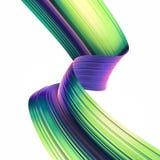 3D geef abstracte achtergrond terug Kleurrijke jaren '90stijl verdraaide vormen in motie Iriserende digitale kunst voor affiche,  Royalty-vrije Stock Fotografie