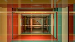 3D geef abstracte achtergrond terug Lange Gang stock fotografie