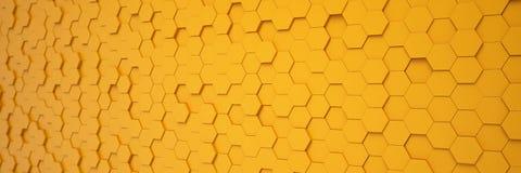 3d geef - abstracte achtergrond - veelhoek terug - sinaasappel Royalty-vrije Stock Fotografie