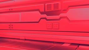 3D geef binnenland terug Futuristische Gang Binnenlands conceptontwerp vector illustratie