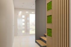 3d geef binnenlands ontwerp van een lounge in een privé buitenhuis terug vector illustratie