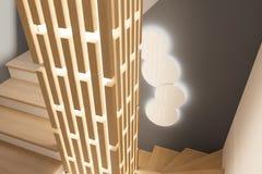 3d geef binnenlands ontwerp van een lounge in een privé buitenhuis terug stock illustratie