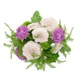 3d geef - bos van bloemen terug Stock Afbeelding
