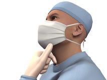 3D geef chirurg terug royalty-vrije stock afbeeldingen