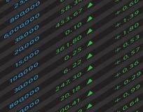 3d geef De Grafiek van de Effectenbeurs terug Royalty-vrije Stock Fotografie