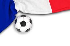 3d geef - de vlag van Frankrijk, voetbal terug Stock Foto
