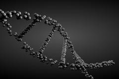 3d geef DNA-molecule terug Royalty-vrije Stock Foto
