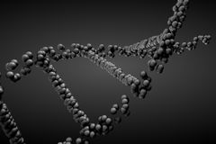 3d geef DNA-molecule terug royalty-vrije illustratie
