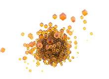 3d geef gele kubussen en witte achtergrond terug royalty-vrije illustratie