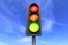 3d geef - groen verkeer - terug Stock Foto