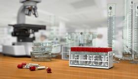 3D geef, illustratie terug Wetenschapsconcept, stock illustratie