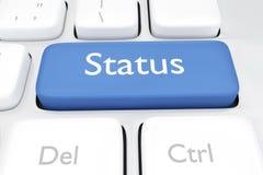 3D geef illustratie van de online sleutel van het statustoetsenbord terug Royalty-vrije Stock Afbeeldingen