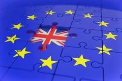 3d geef - puzzel - brexit terug Stock Foto