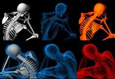 3d geef skelet terug Royalty-vrije Stock Fotografie