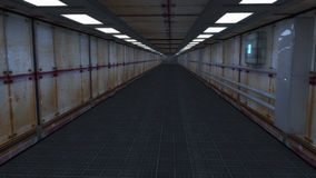 3d geef terug Futuristisch ruimteschipbinnenland Stock Fotografie